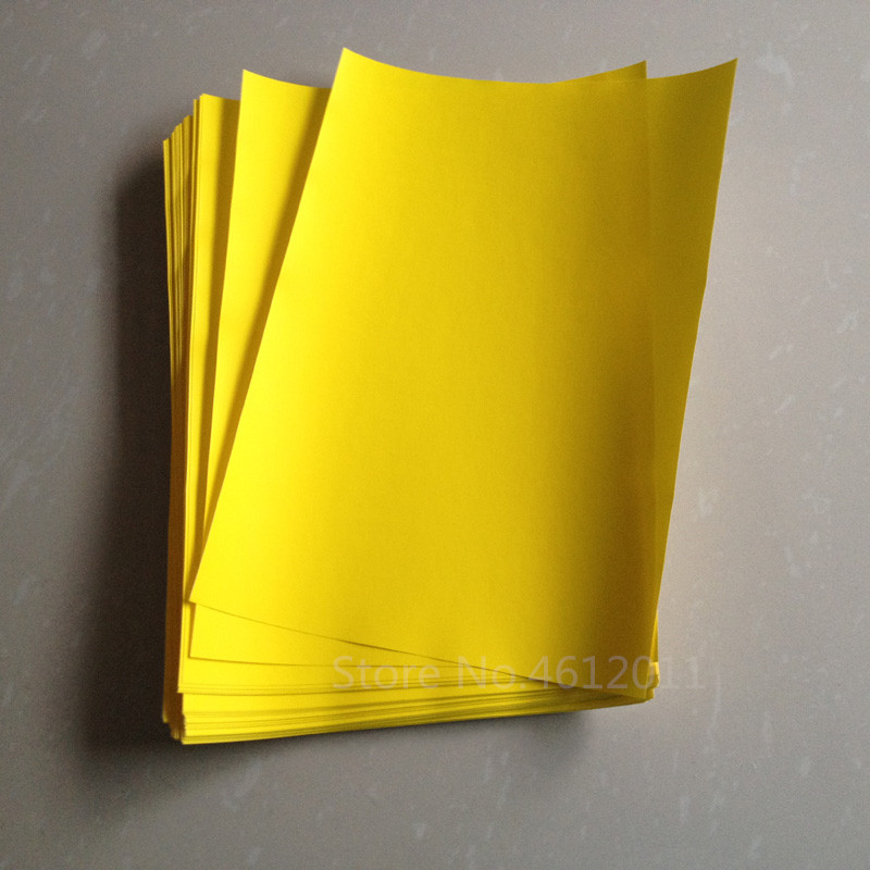 20pcs A4 Yellow Matte Self Adhesive Sticker PP Synthetic Paper for Laser Printer