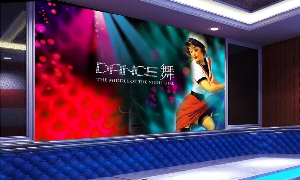 karaoke wall ballroom background tv 3d paper living bar sofa bars custom ktv bedroom hotel entertainment mural