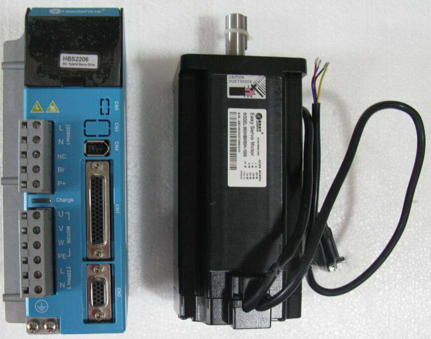 New Leadshine High voltage Easy servo driver HBS2206 + Easy servo Motor 863HBM80H-1000 Driver work 220-240VAC Motor NEMA 34 8NM new 1000w leadshine ac servo driver l5 1000 work 220 vac can bruless ac servo motor acm8010l2h 51 b cnc servo system