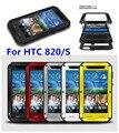 Любовь мэй оригинал телефон покрытия чехол для HTC Desire 820 820 S грязезащищенная водонепроницаемый металлический алюминия мощный чехол с гориллой стеклянной