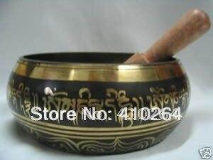 [Nice Discount ] Rare Tibet Brass Word Buddhism Singing Bowl W 0149