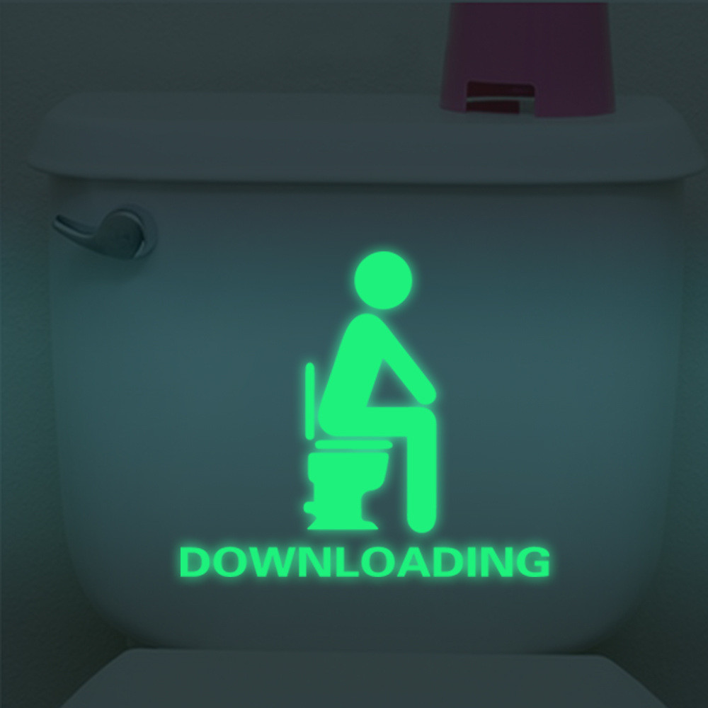 New Qualified Dropship Bathroom Luminous Sticker Toilet Fluorescent Wall Sticker Removable Sticker adesivo de parede OC20