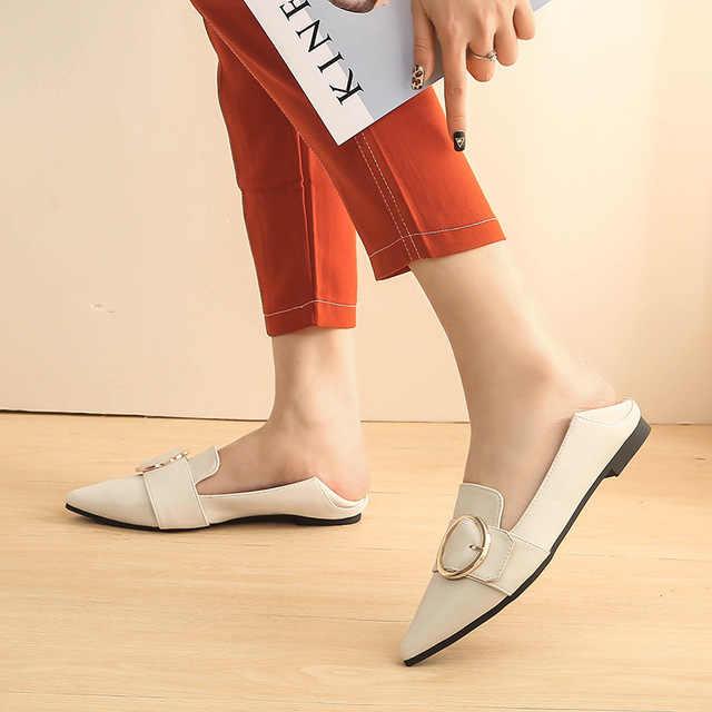 Primavera Nuove Donne di Appartamenti Poco Profondi Scarpe da Donna con Scarpe a Punta Solid Causale di Modo di Gomma Mujer Scarpe G009