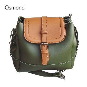 Osmond Women Doctor Bag PU Leather New Arrival Fashion Messenger Bags Rivet Chain Crossbody Shoulder Bags Female Shopping Bag doctor bag