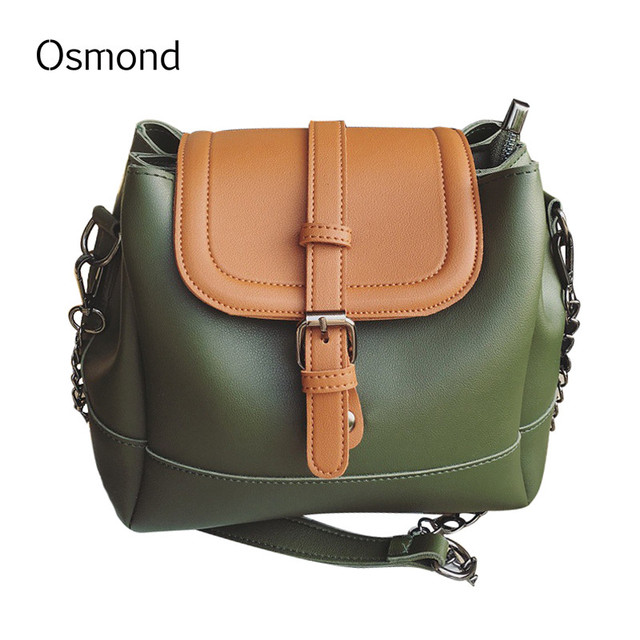 Osmond Women Doctor Bag PU Leather New Arrival Fashion Messenger Bags Rivet  Chain Crossbody Shoulder Bags 9f460019fe