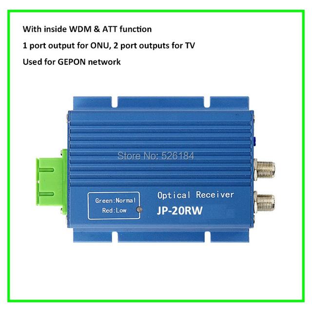 1 o 2 puertos GEPON De Fibra óptica WDM mini nodo óptico receptor de red triple play