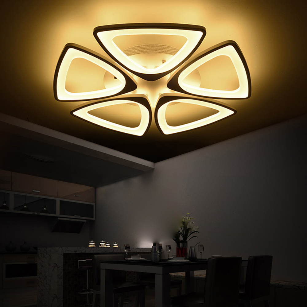 Aliexpress Com Buy Modern Acryl Led Ceiling Light With: Aliexpress.com : Buy LED Modern Flower Iron Acryl LED Lamp