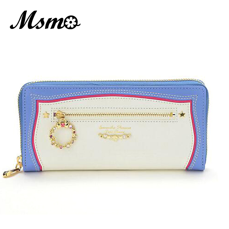 2017 Hot Sale Sailor Moon Women Long zipper Purse With ornaments Wallet Clutch Bag Card Holder 3 colors yuanyu 2018 new hot free shipping real python leather women clutch women hand caught bag women bag long snake women day clutches