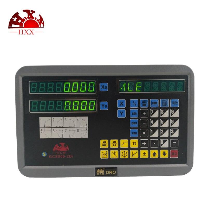Nova Completa Kit Dro eixo 2 GCS900-2D/pcs Linear Codificador De Vidro de Leitura Digital E 2 5u 50-1000mm Para Máquinas