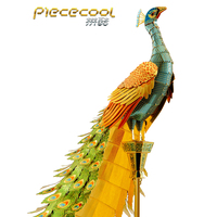 Piececool 3D Metal Puzzle Figure Toy Colorful Peacock Animal model Educational Puzzle 3D Models Gift jigsaw Toys For Children