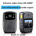 Ambarella A7 (Not A2) 128GB Ture Full HD 1080P Police Body Lapel Worn Video Camera Recorder DVR IR HD law enforcement recorder