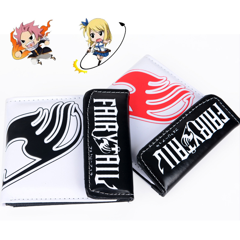 Anime Fairy Tail Wallet Cosplay School Students Money Bag Children Card Holder Case Portefeuille Homme Purse Wallets sosw fashion anime theme death note cosplay notebook new school large writing journal 20 5cm 14 5cm