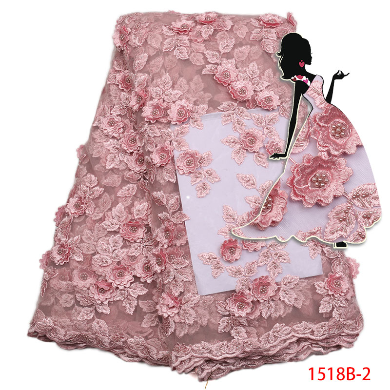 2017 New Design 3D Good Quality nigeria lace fabric new 2017 African Lace Nice Tulle Net