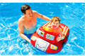 Cartoon Children Baby Swimming Pool,Seat Ring Float Water Boat For 0-2 Years Bebes, Small Kids Inflatable Pool Patrol Boat