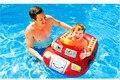 Crianças dos desenhos animados Do Bebê Piscina de Natação, Anel da Sede Float Barco Da Água Para Bebes de 0-2 Anos, pequena Piscina Infantil Inflável Barco de Patrulha