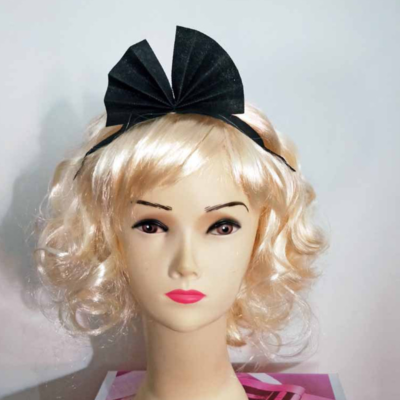 Children Bowknot   headwear   Blonde curly Cosplay Peluca for Girls Woman Halloween Costume Carnival Purim Nightclub Bar party dress