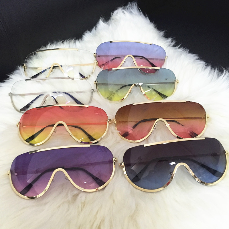 Rimless Gold Clear Sunglasses Men Women Brand Designer Aviator Clear Sunglasses 2