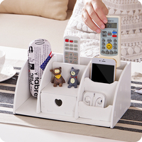 Brief Desktop Cosmetic Storage Box Drawer Makeup Organizer Miscellaneously Multicellular Wooden Box