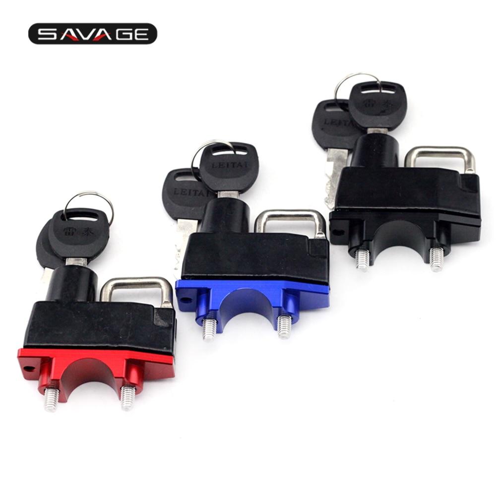 Helmet Lock For KAWASAKI ZZR 1200/ZZR 1100D/ZZR 1100C/ZZR 600/ZZR 400 Hanging Hook 2 Keys Durable Handlebar Clamp Motorcycle