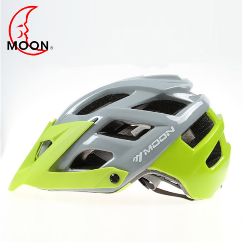 MOON Mountainous Riding Helmet Integrated Outdoor Sports + Eaves Safety Men's Cycling Helmet cycling helmet road a49