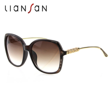LianSan Vintage Polarized Sunglasses Women Luxury Brand Designer Fashion Oversized Vintage Plastic Eyeglasses LSP506
