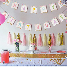 Colorful Banners and Other Props for Girl's Birthday