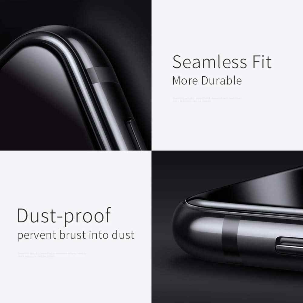 MUSTTRUE フルカバー iphone XS スクリーンプロテクター強化ガラス × XR ガラスフィルム保護のための iPhoneX