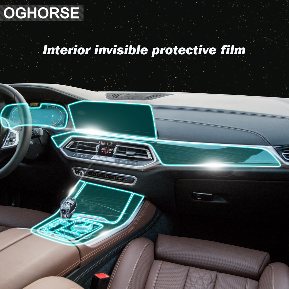 Self Healing Car Interior Screen Protector Central Console Navigation Display Gear Protective Film Sticker For BMW X5 G05 2019