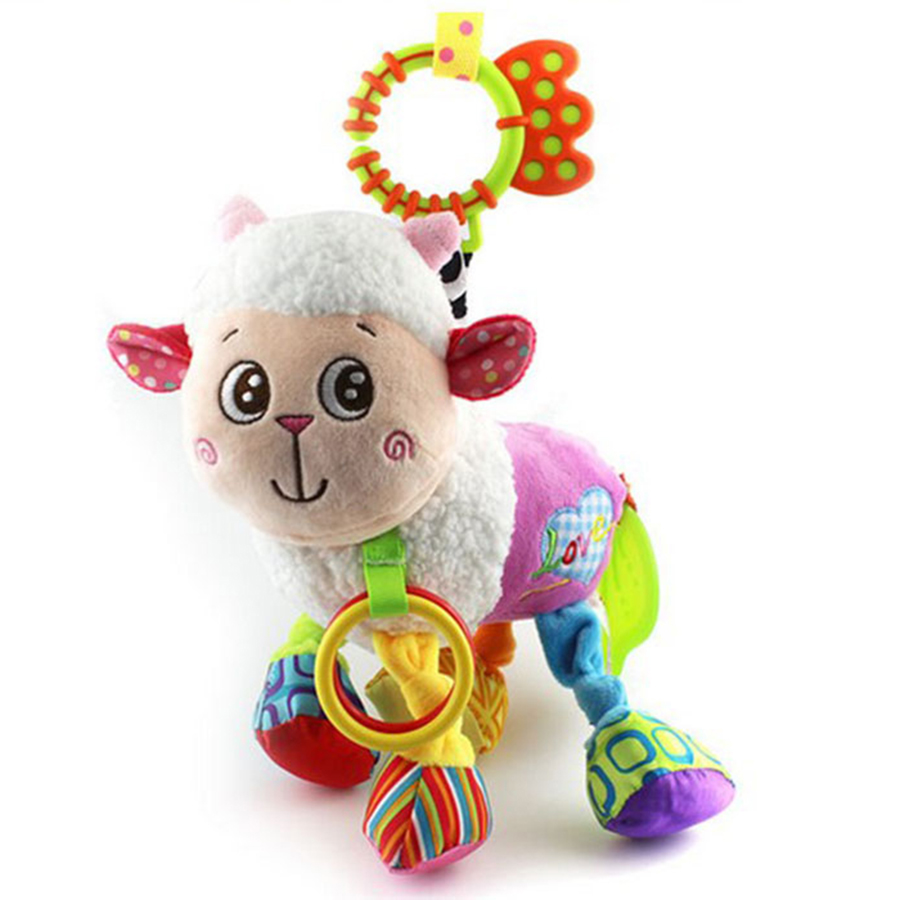 Kids Toys For Girls Newborn Children Mobility On The Bed Soft Cubes Peluche Musical Instruments Toys In The Crib Baby 70C0187