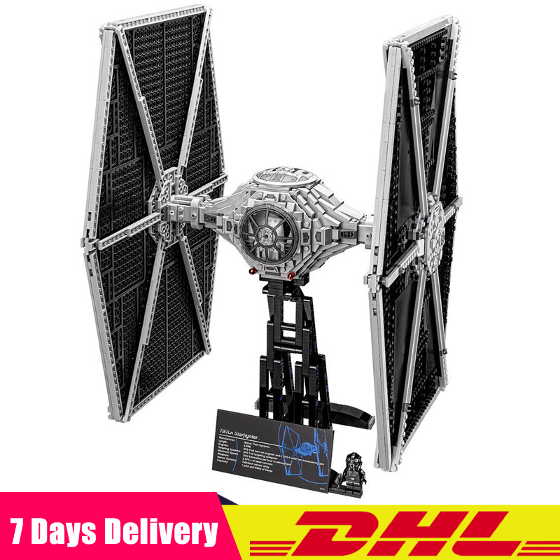 Compatible Legoinglys 75095 Star War UCS Tie Fighter Building Educational Blocks Bricks Toys Christmas Gift new 1685pcs lepin 05036 1685pcs star series tie building fighter educational blocks bricks toys compatible with 75095 wars