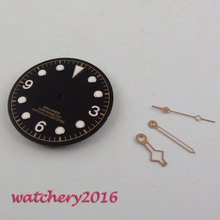 30.4mm black sterile Dial Watch for 2824 2836 Movement (dial + hands)