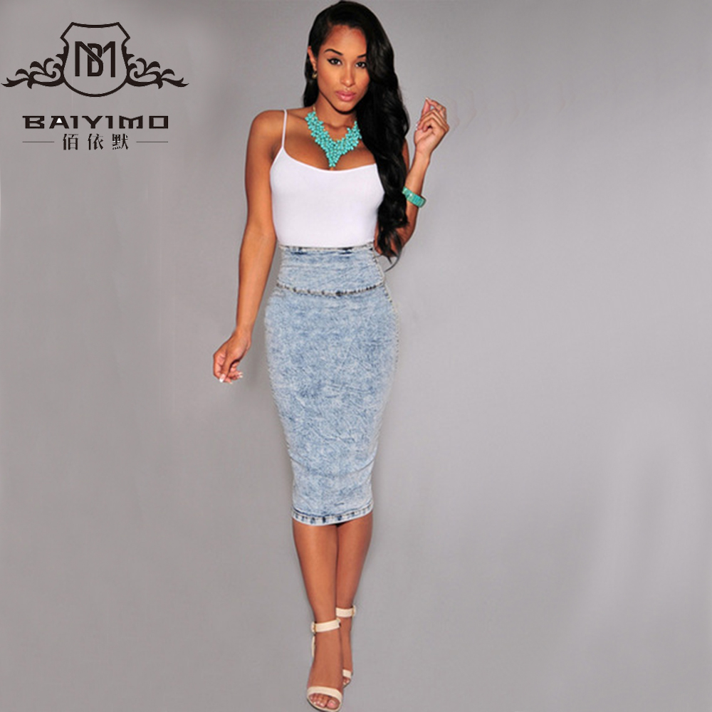Jean Maxi Skirts Plus Size Promotion-Shop for Promotional Jean ...
