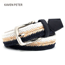 Weave Belt Men In Men's Belts And Cummerbunds  Wax Rope And Straw Mixed Braided Size From 90 CM To 160 CM Large Size