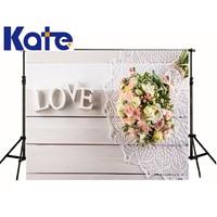 kate Photographic background Love Bouquet white lace wood studio photocallbackdrops princess christmas 7x5ft