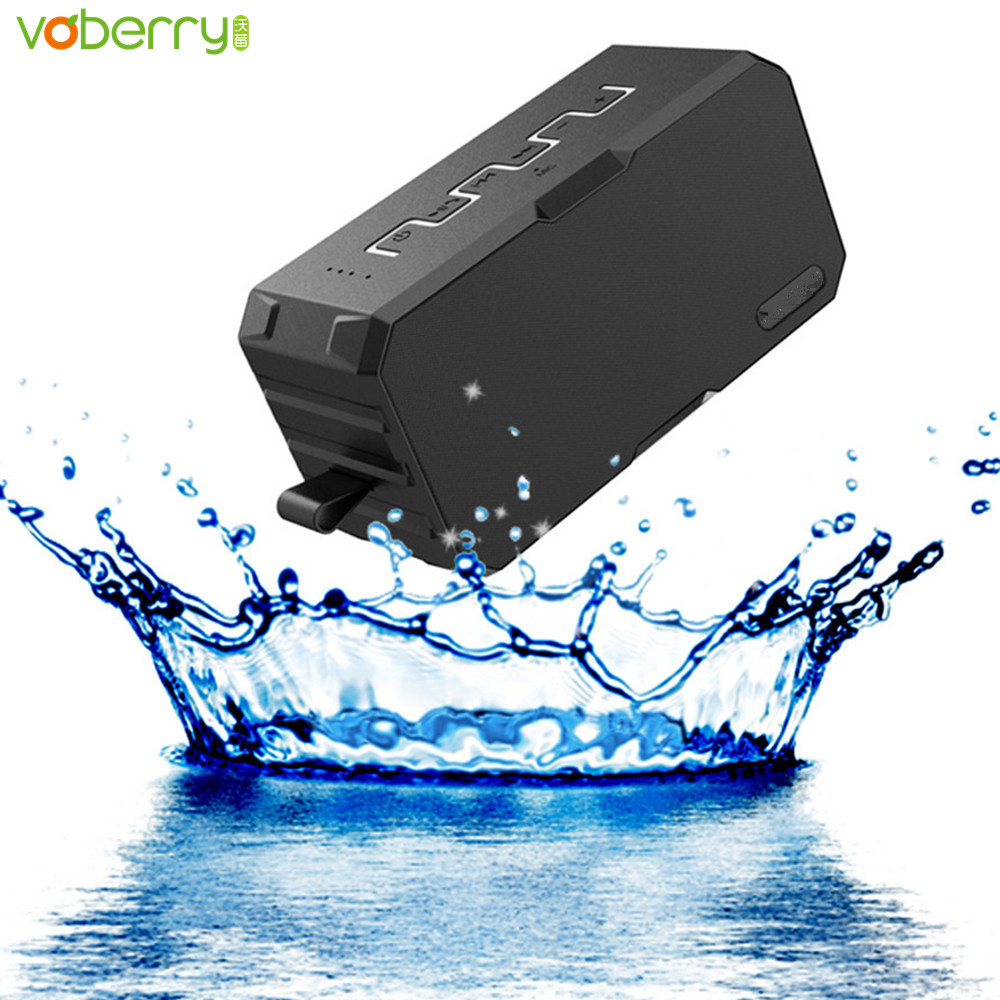 VOBERRY New Wireless Bluetooth Speaker TF Card Mic Waterproof 2600mah Power Bank Portable Super Bass Speakers With Subwoofer