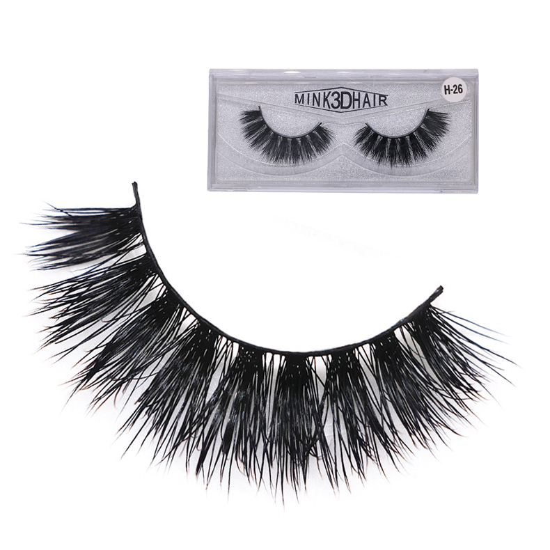 Mink Eyelashes 3D Mink Hair Lashes Wholesale Real Mink Fur Handmade Crossing Lashes Thick Lash Makeup 6 Styles 1 Pair ZH-26