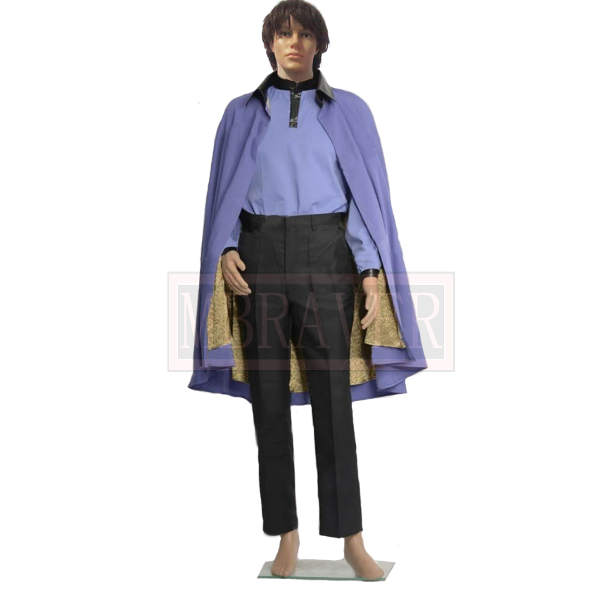Star Wars Episode VII 7 Lando Calrissian Cosplay Costume Halloween Suit Custom Made Any Size