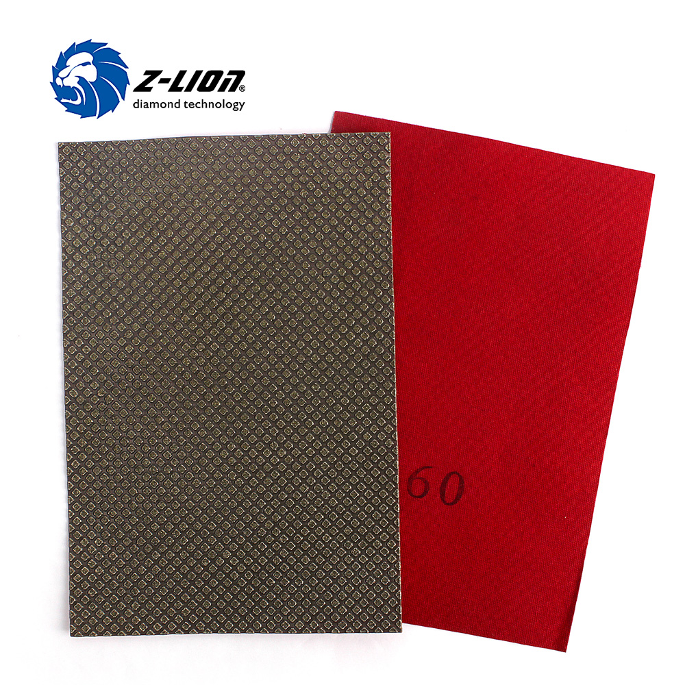 Z-LION 1 Piece Diamond Electroplated Polishing Sheet Abrasive Sandpaper 120*180mm For Grinding Stone Glass Ceramic Diamond Tool