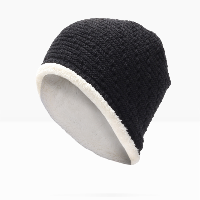 Brand MNKNCL Men Women Skullies Beanies Winter Autumn Thickening Internal Plush Hedging Cap Knit Knitted Caps Bonnet Hat Warm 35colors silver gold soild india scarf cap warmer ear caps yoga hedging headwrap men and women beanies multicolor fold hat 1pc