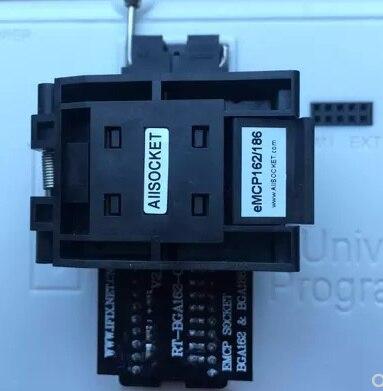 RT BGA162 01 Adapter EMMC seat EMCP162 EMCP186 BGA162 Socket For RT809H Programmer