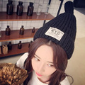 Korea New Cute Pointy Top Knitted Strip Hat Wool Hat for Women  Beanies Bone