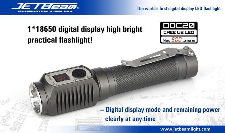 Free Shipping JETBeam DDC20 CREE G2 LED Flashlight Torch 500 lumens tactical flashlights lanterna by 1x18650/2xCR123 battery led flashlight 5000 lumens cree xml t6 torch lamp flashlights powered by 1 piece 18650 battery
