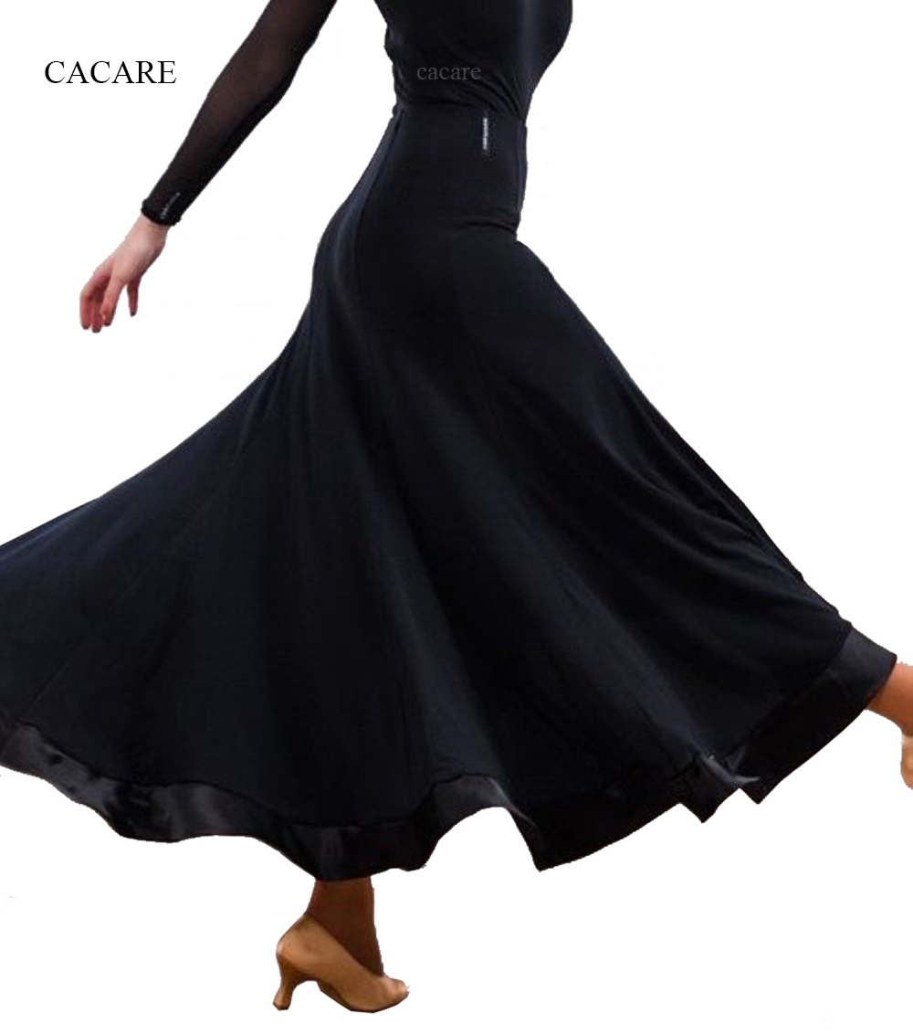 Ballroom Skirt Waltz Dresses Dance Competition Dresses Ballroom Dress Standard Flamenco D0249 Big Hem Black Спортивный бальный танец