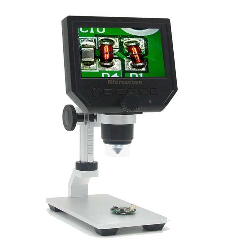 """1-600X 3.6MP цифровой электронный микроскоп портативный 4,3 """"HD пайка VGA лупа видео микроскоп для ремонта материнской платы Pcb"""