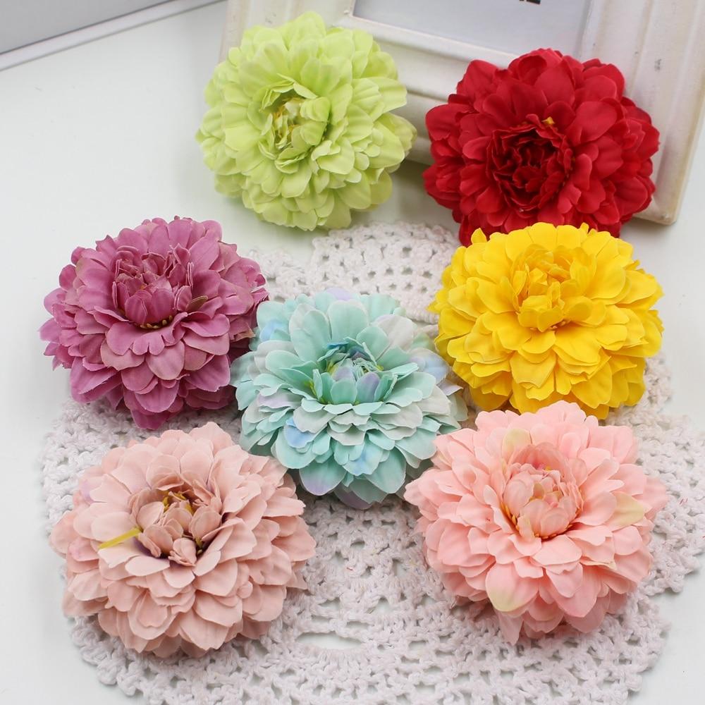 Nuevo 5 unids/lote 6 cm de novia de seda artificial decoración floral artificial