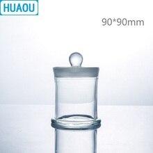 HUAOU 90*90 мм образец банку с ручкой и притертой Стекло фиксаторы уход за кожей лица маска медицинская Формалин формальдегид Дисплей бутылка