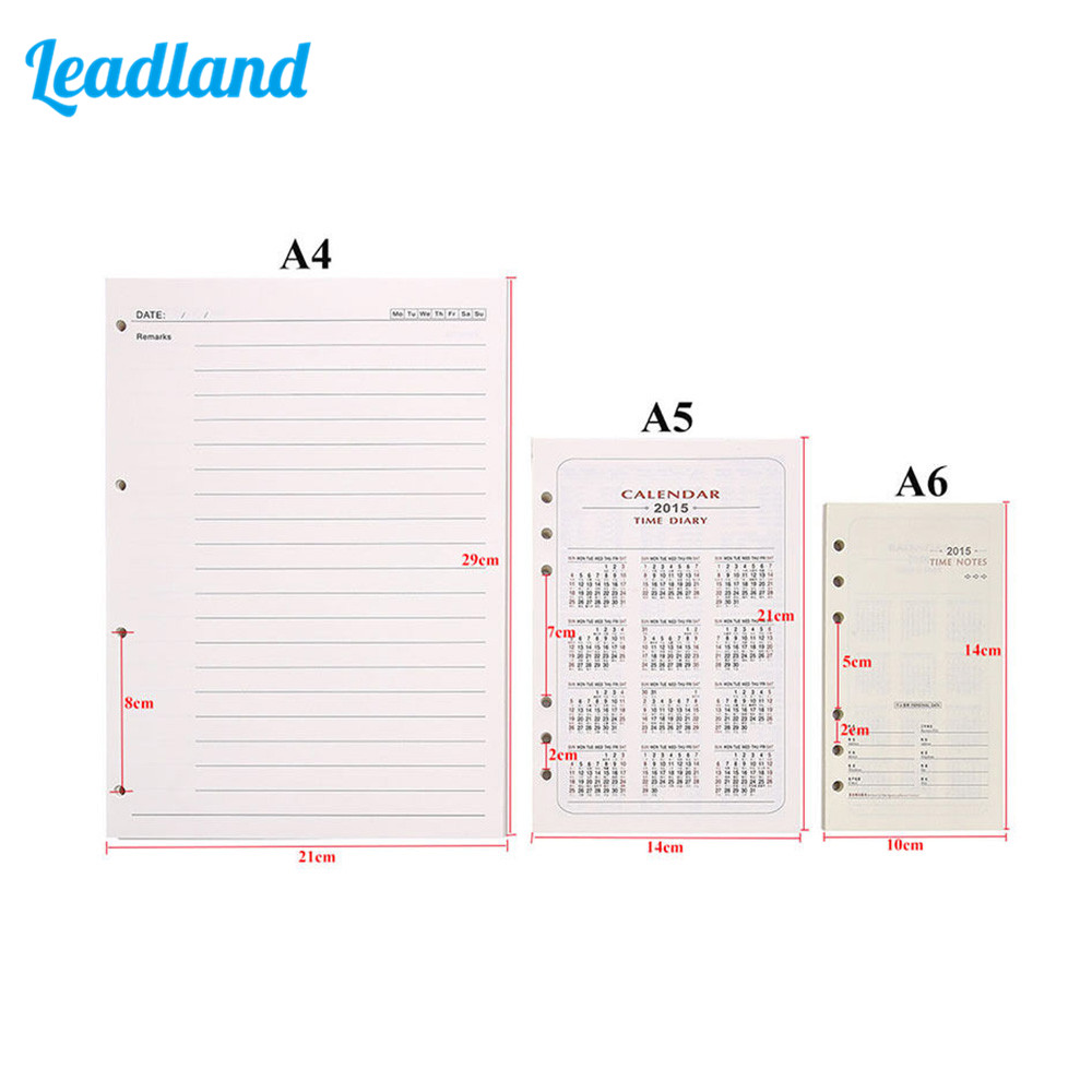 100 Pages Blank A4 Loose Leaf Paper for 4 Ring Binder Journal Diariy Notebook