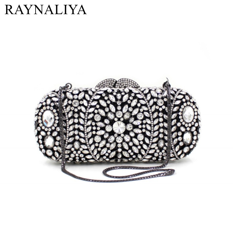 Women Party Handmade Pearl Clutch Bag Bridal Beaded Hand Bags Metal Clutches Hard Case Crystal Beading Wedding Bag SMYZH-F0076 tentop a two sided beaded fashion exquisite beaded evening bag noble elegant pearl clutches bags shoulder party bags white pearl