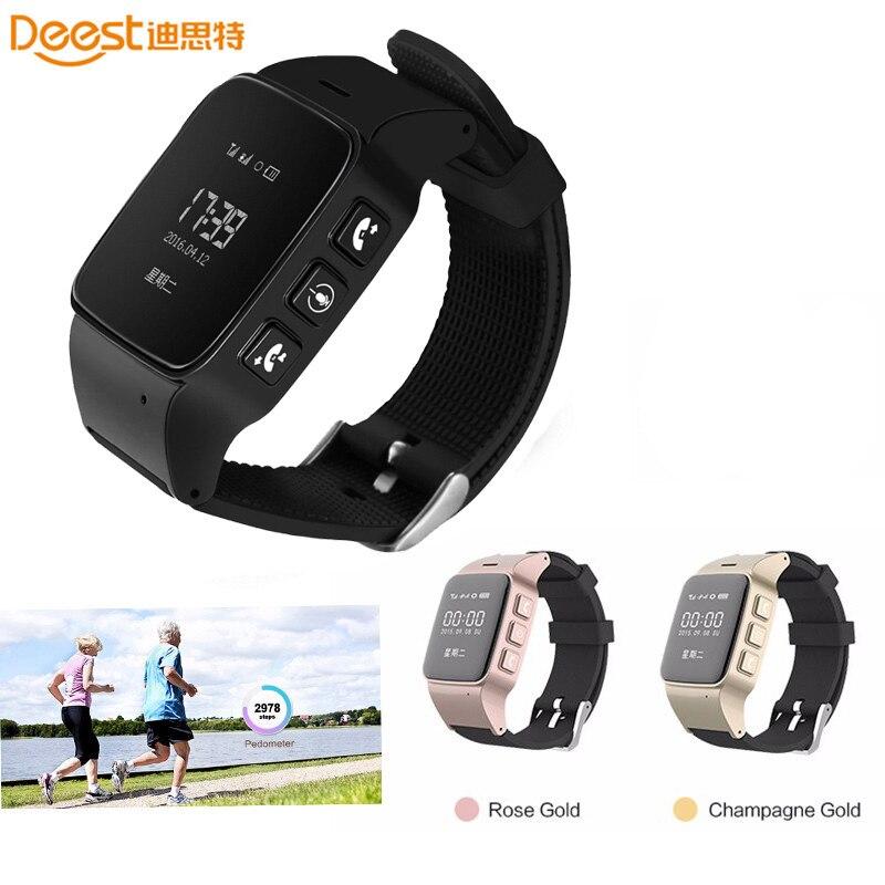 imágenes para D99 ancianos smart watch para xiaomi iphone anti-perdida gps + lbs seguimiento wifi con wifi mini reloj para los ancianos y las mujeres ios android