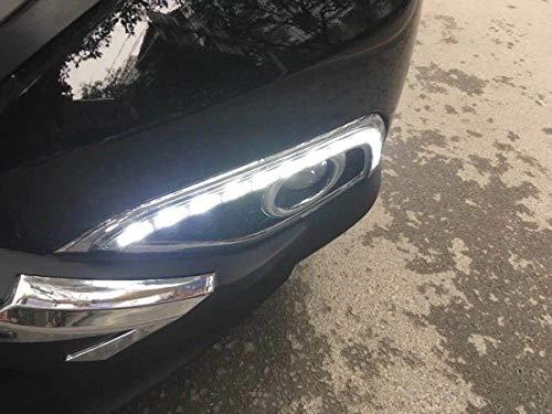 LED DRL Tagfahrlicht Nebel Lampe mit COB Angel Eye 12V Auto Led tagfahrlicht für Ford Edge 2015 2017 - 6
